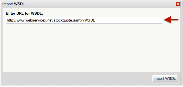 Import WSDL URL